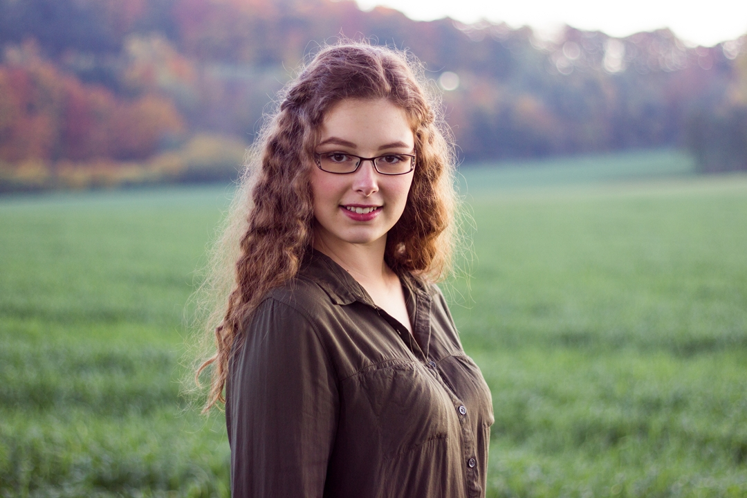 Herbst Portrait Frau
