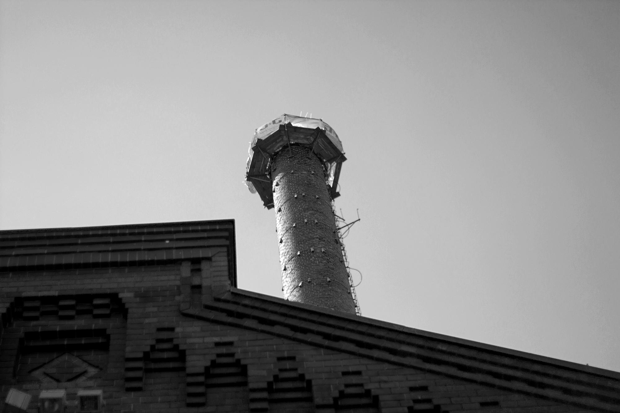 Alte Brauerei Berlin Turm Schwarz-Weiß