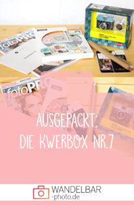Ausgepackt: Das war in der Fotografiebox #Kwerbox Nr.7