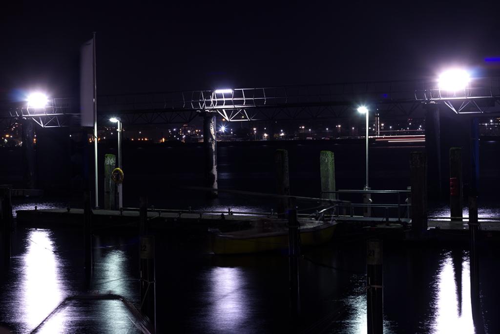 Langzeitbelichtung Hafen