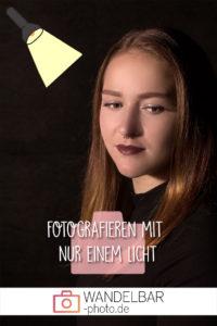 Fotografieren mit nur einem Licht