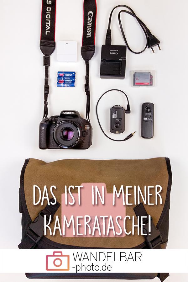 Pin Was ist in meiner Kameratasche