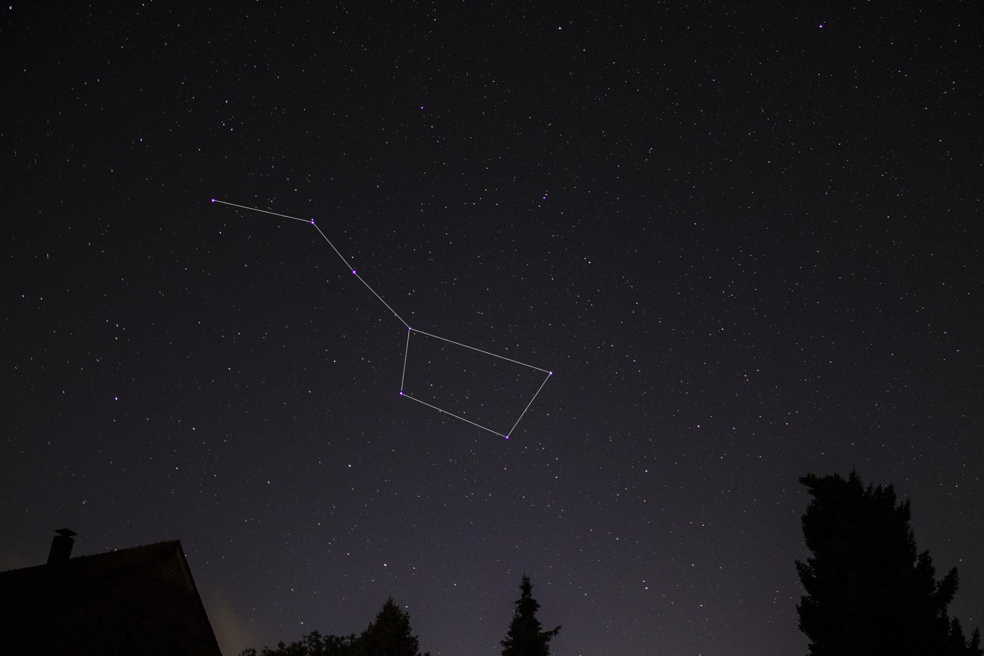 Sterne Sternzeichen großer Wagen Himmel