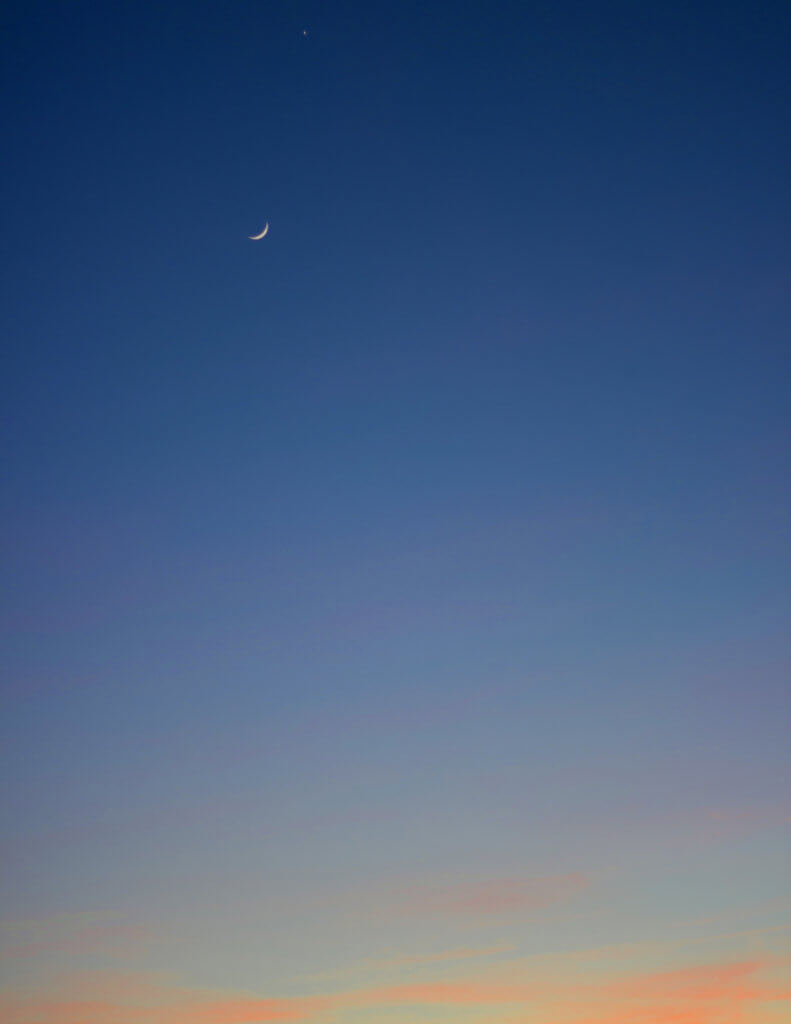 Sichel-Mond-Fotografie