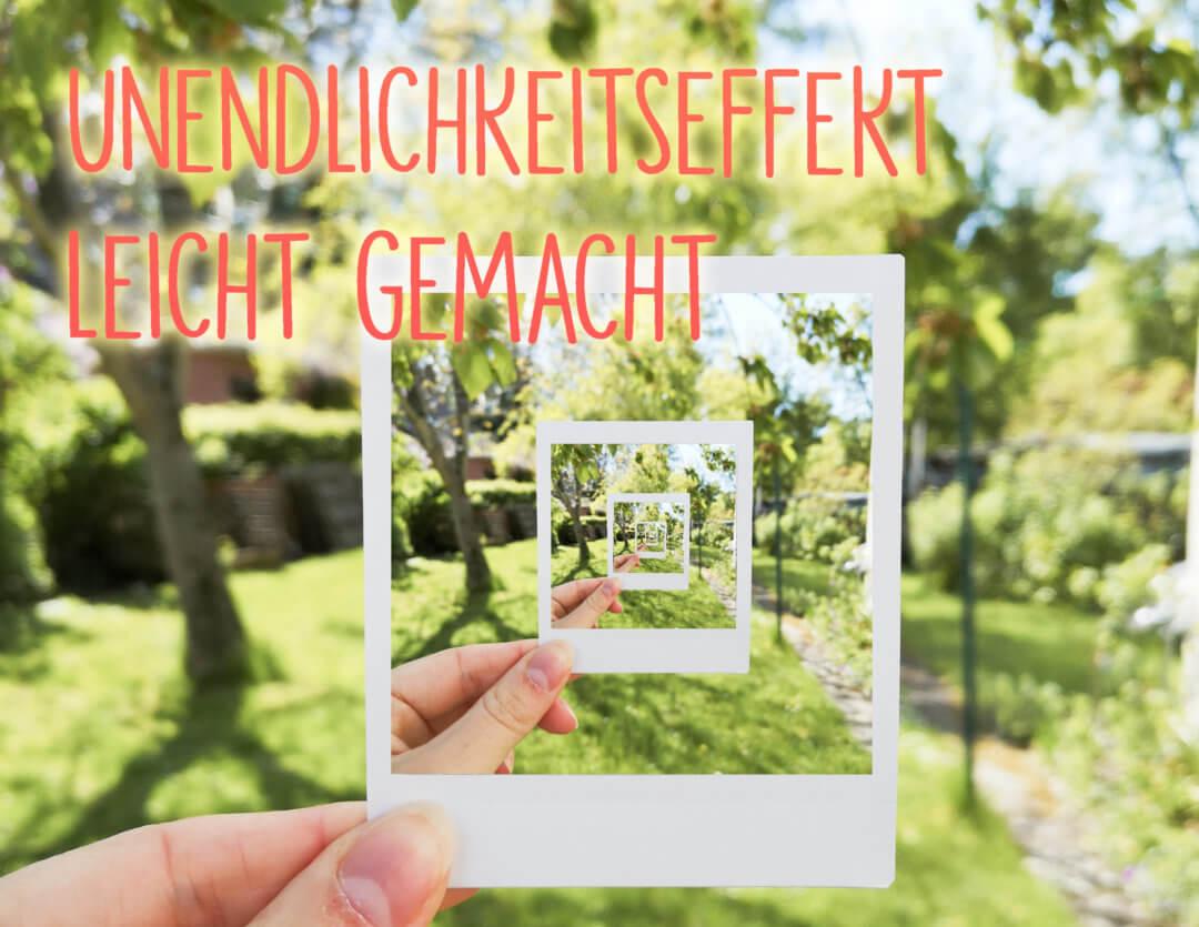 Unendlichkeitseffekt Polaroid App PicsArt