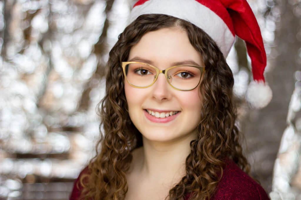Weihnachtliche Portraits mit Rettungsdecke in silber