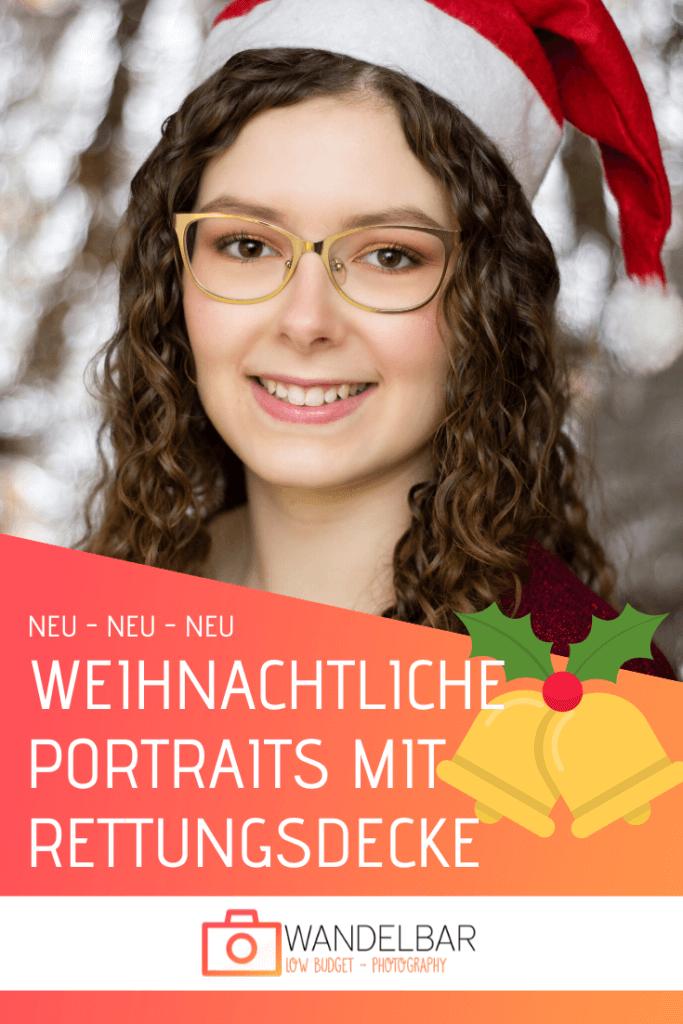 Weihnachtliche Portraits mit Rettungsdecke