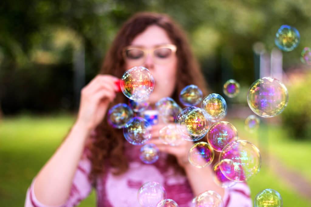 Seifenblasen Selbstportrait